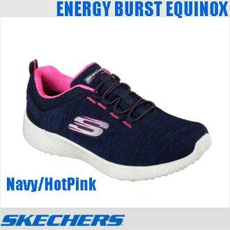 スケッチャーズ 버스트 エキノクス 12431 NVHP SKECHERS BURST-EQUINOX Navy HotPink 여자 여자 여자 신발 슬립 스 니 커 즈 네이 비 핫 핑크