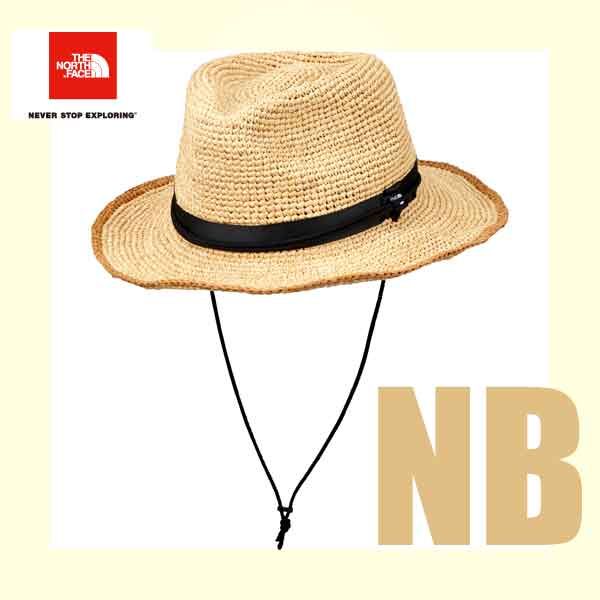 ザ ノースフェイス 段ボール梱包 ラフィア ハット ヤシ科の天然素材ラフィアを使用したサファリハット。 ハット 帽子 The North Face Raffia Hat (Men's) (NB)ナチュラルベージュ NN01554