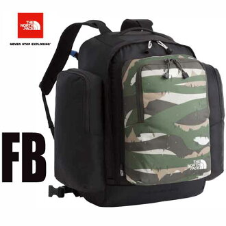 Day pack The North Face K Sunny Camper 40+6 NMJ71700 (FB) Forest print X black for the the North Face-adaptive 2017 latest model sunny camper 40+6 (kids) backpack / rucksack child