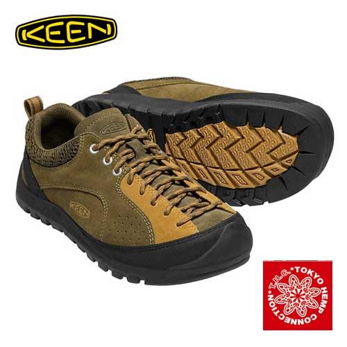 キーン × THC メンズ ジャスパー ロックス KEEN MENS JASPER Rocks MOTOMICHI Q SEKIMURA × KEEN 男性 スニーカー アウトドア トレッキング シューズ 1017662 MILITARY OLIVE/CATHAY SPICE