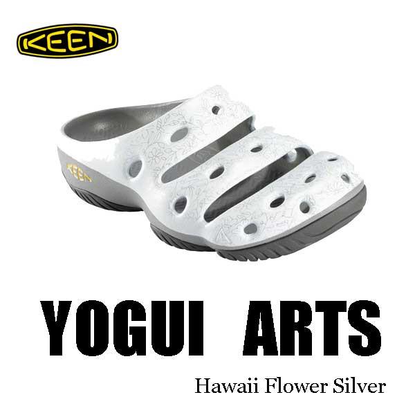 キーン 継続カラー メンズ ヨギ アーツ サンダル クロッグ KEEN MENS YOGUI ARTS  1002037 Hawaii Flower Silver