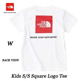 ザ ノースフェイス NTJ81827 W 2020年春夏最新在庫 ネコポス便対応 日本正規品 ショートスリーブスクエアロゴティー(キッズ/ベビー) 子供用 半袖Tシャツ The North Face S/S Square Logo Tee NTJ81827 (W)ホワイト