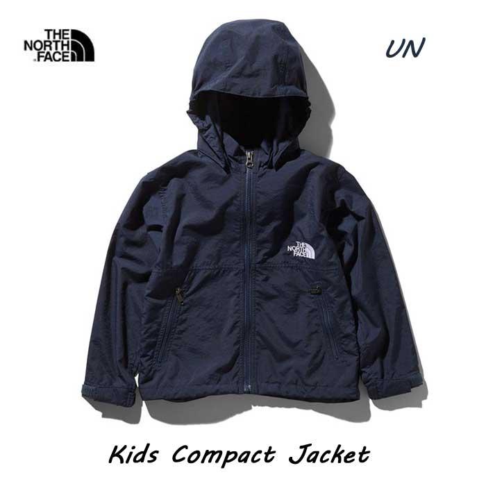 ザ ノースフェイス 2019年春夏最新在庫 無償修理対象日本正規品 キッズ コンパクトジャケット(キッズ) 撥水加工を施した定番のウインドブレーカー The North Face Kids Compact Jacket NPJ21810 (UN)アーバンネイビー