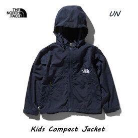 ザ ノースフェイス 無償修理対象日本正規品 キッズ コンパクトジャケット(キッズ) 撥水加工を施した定番のウインドブレーカー The North Face Kids Compact Jacket NPJ21810 (UN)アーバンネイビー