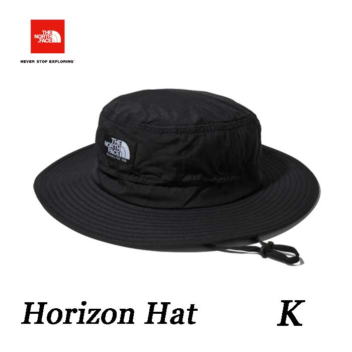 ザ ノースフェイスネコポス便限定 2019年春夏最新在庫 ホライズン ハット 通気性に配慮したサンシールドハット UVケア 紫外線対策  The North Face Horizon Hat NN01707 (K)ブラック
