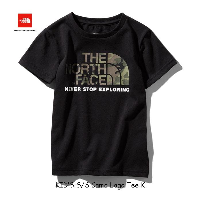 ザ ノースフェイス ネコポス便対応送料無料 無償修理対象日本正規品 ショートスリーブカモロゴティー(キッズ) 子供用 半袖Tシャツ The North Face S/S Camo Logo Tee NTJ31992 (K)ブラック BLACK