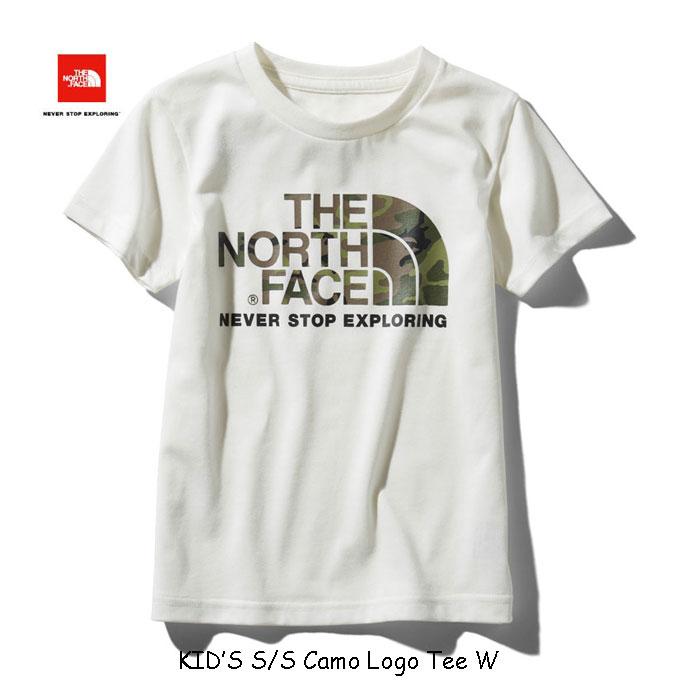 ザ ノースフェイス ネコポス便対応送料無料 無償修理対象日本正規品 ショートスリーブカモロゴティー(キッズ) 子供用 半袖Tシャツ The North Face S/S Camo Logo Tee NTJ31992 (W)ホワイト WHITE