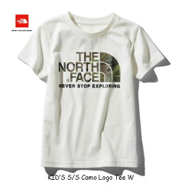 ザ ノースフェイス ネコポス便対応 無償修理対象日本正規品 ショートスリーブカモロゴティー(キッズ) 子供用 半袖Tシャツ The North Face S/S Camo Logo Tee NTJ31992 (W)ホワイト WHITE