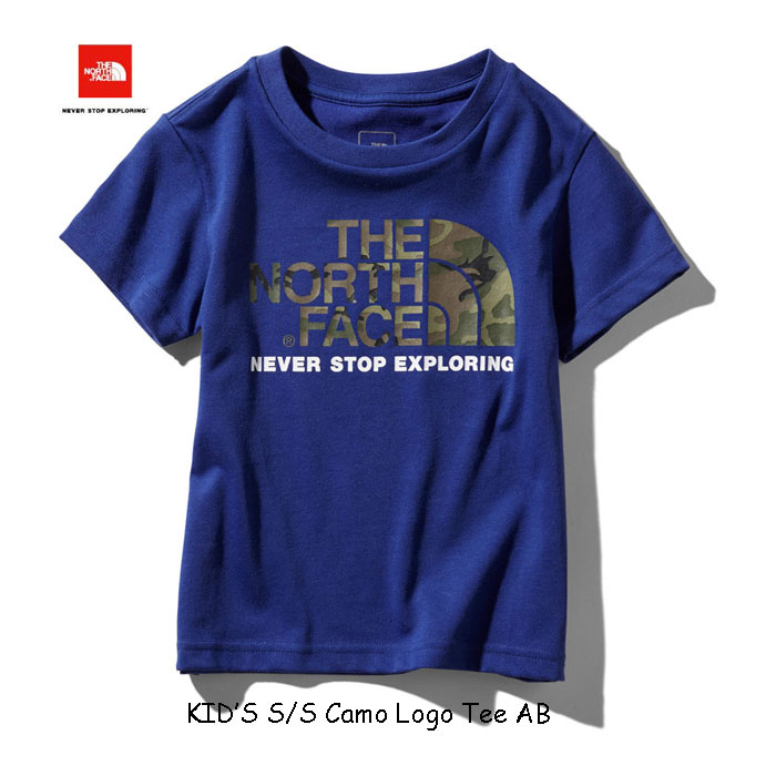 ザ ノースフェイス ネコポス便対応送料無料 無償修理対象日本正規品 ショートスリーブカモロゴティー(キッズ) 子供用 半袖Tシャツ The North Face S/S Camo Logo Tee NTJ31992 (AB)アズテックブルー