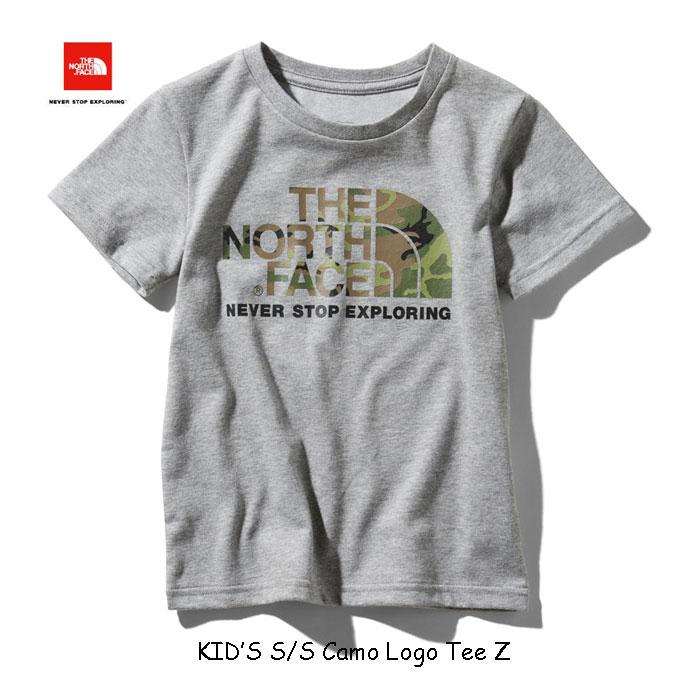 ザ ノースフェイス ネコポス便対応送料無料 無償修理対象日本正規品 ショートスリーブカモロゴティー(キッズ) 子供用 半袖Tシャツ The North Face S/S Camo Logo Tee NTJ31992 (Z)ミックスグレー MIX GREY