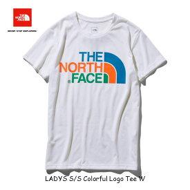 ザ ノースフェイス レディースモデル ネコポス便対応 ショートスリーブカラフルロゴティー(レディース) The North Face Womens S/S Colorful Logo Tee NTW31931 (W)ホワイト 他の商品と同梱不可 1枚のみ送料無料