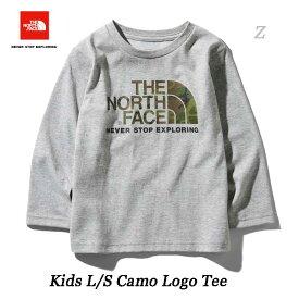 ザ ノースフェイス ネコポス便対応 無償修理対象日本正規品 ロングスリーブカモロゴティー(キッズ) 子供用 長袖Tシャツ The North Face Kids L/S Camo Logo Tee NTJ81824 (Z)ミックスグレー