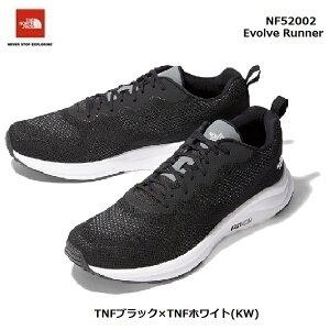 ザ ノースフェイス NF52002 KW イヴォルブ ランナー(ユニセックス)The North Face Evolve Runner TNFブラック×TNFホワイト(KW)ランニングシューズ トレーニングシューズ 靴
