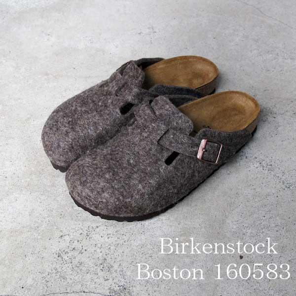 ビルケンシュトック あす楽対応 ボストン ココア フェルト Birkenstock Boston Cocoa Felt sandal  レディース クロッグ 160583