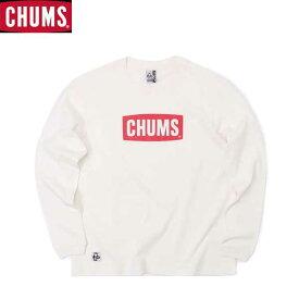 チャムス CH11-1828-W014 チャムスロゴロングスリーブTシャツ ネコポス便対応 CHUMS CHUMS Logo L/S T-Shirt White/Red トップス Tシャツ ロングスリーブ 長袖 ホワイト/レッド