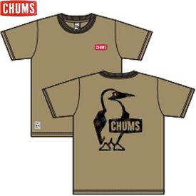 チャムス CH01-1878-B001 ブービー ロゴ 花火Tシャツ ネコポス便対応 CHUMS Booby Logo Hanabi T-Shirt Beige トップス Tシャツ ベージュ