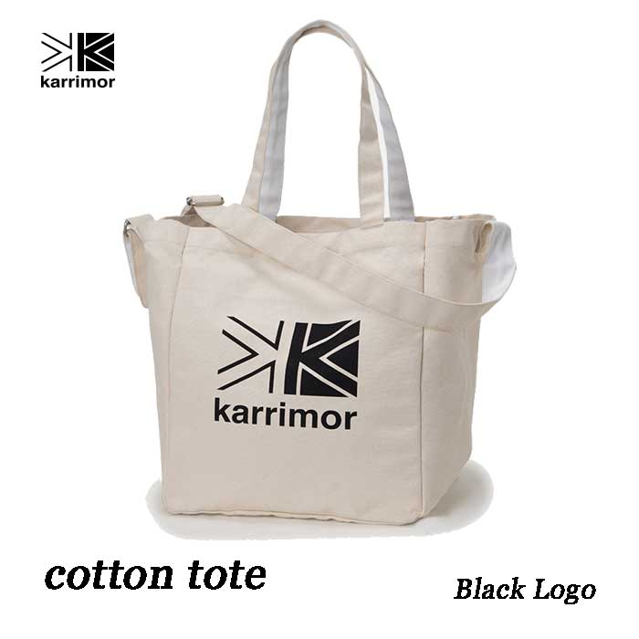カリマー コットントート 25L ブラック ロゴ Karrimor cotton tote 25L Black Logo
