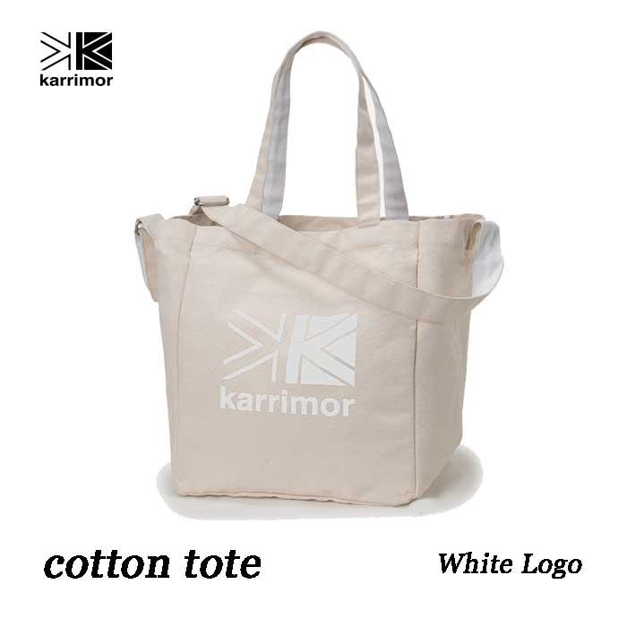 カリマー コットントート 25L ホワイト ロゴ Karrimor cotton tote 25L White Logo