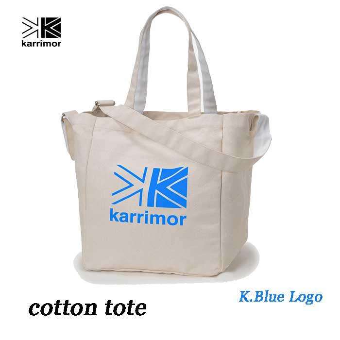 カリマー コットントート 25L ブルー ロゴ Karrimor cotton tote 25L K.Blue Logo
