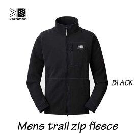 カリマー メンズ トレイル ジップ フリース ブラック Karrimor mens trail zip fleece Black