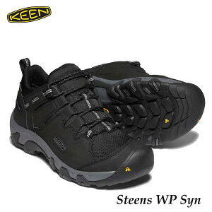 キーン 1022749 メンズ スティーンズ ウォータープルーフ シンセティック 防水ハイキングシューズ Keen Mens Steens WP Syn Black/Magnet