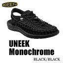 キーン ウィメンズ レディース ユニーク サンダル Keen Womens UNEEK Monochrome Sandal 1014099  BLACK/BLA...