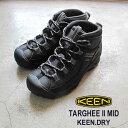 キーン あす楽対応 メンズ ターギー II ミッド 防水 ハイキングブーツ KEEN MENS TARGHEE II MID 1012863 BLACK / GAR…