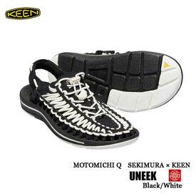 キーン 1019281 あす楽対応 27 29cm メンズ ユニーク ラウンドコード スポーツサンダル Keen Mens UNEEK Round Cord Black/White