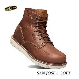 キーン あす楽対応 メンズ サンノゼ シックス ソフト ワークシューズ アウトドアブーツ ワークブーツ KEEN MENS San Jose 6 Soft 1020146 GINGERBREAD/OFF WHITE