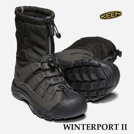 キーン 1019469 人気のブラック メンズ ウィンターポート 2 ウィンターブーツ KEEN MENS WINTERPORT II TRUE BLACK