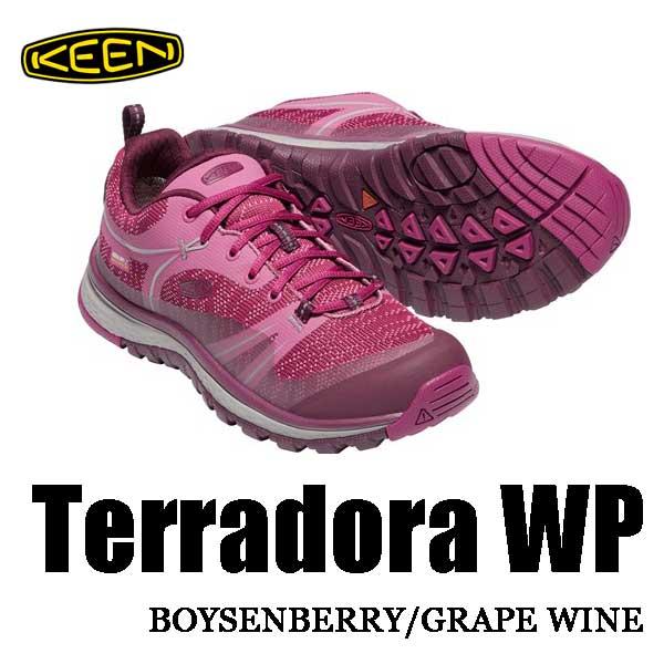 キーン 3月27日出荷予定 テラドーラ ウォータープルーフ ウィメンズ レディース アウトドアフィットネスシューズ KEEN WOMENS Terradora WP 1018531 Boysenberry / Grape Wine