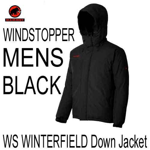 マムート あす楽対応 ウインドストッパー ウインターフィールド ダウン ジャケット メンズ MAMMUT WINDSTOPPER WINTERFIELD Down Jacket MENS 1011-00190-0001 BLACK