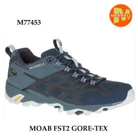 メレル M77453 モアブ エフエスティ2 ゴアテックス Merrell MOAB FST2 GORE-TEX NAVY/SLATE メンズ アウトドア スニーカー 幅2E相当