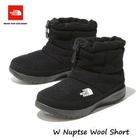 ザ ノースフェイス NFW51979 KK 女性用 24CM 25CM 2019-20年モデル ヌプシ ウール ショート レディース TNFブラック The North Face ladys W Nuptse Wool Short TNF BLACK