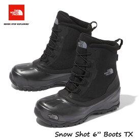 """ザ ノースフェイス NF51960 KK 25 26 27 28 29CM スノーショット6""""ブーツテキスタイルV(ユニセックス)(KK)TNFブラック×TNFブラック The North Face Snow Shot 6"""" Boots TX V TNF Black 降雪 雪かき スキー スノボー 除雪作業に!"""
