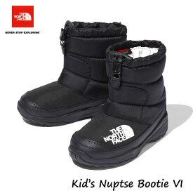 ザ ノースフェース NFJ51981 KK ヌプシブーティー VI(キッズ)ブラック ウィンターブーツ 子供用 The North Face K Nuptse Bootie VI Black