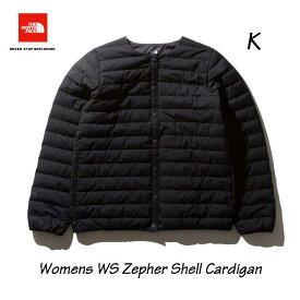 ザ ノースフェイス NDW91961 K Womens ウインドストッパーゼファーシェルカーディガン(レディース) ブラック 襟なしインナーダウン クリーンダウン  The North Face Womens WINDSTOPPER Zepher Shell Cardigan (K)ブラック
