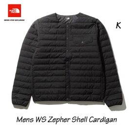 ザ ノースフェイス ND91962 K ウインドストッパーゼファーシェルカーディガン(メンズ)ブラック 襟なしインナーダウン クリーンダウン  The North Face Mens Windstopper Zepher Shell Cardigan ND91962 K BLACK
