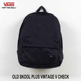 バンズ ヴァンズ オールドスクール プラス バックパック リュック VANS OLD SKOOL PLUS BLACK BAG  Backpack VN0002TMBLK
