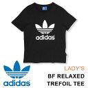 アディダス オリジナルス ロゴ Tシャツ レディース ビッグロゴ プリント 半袖 ブラック 黒 女性用 adidas Originals B…