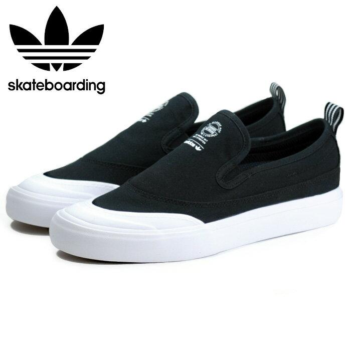 【送料無料】アディダス adidas スケートボーディング マッチコート スリップ メンズ レディース スリッポン スニーカー スケートシューズ ブラック 黒 大きいサイズ 小さいサイズ 靴 クツ くつ 通学 紐なし スリップオン SKATEBOARDING MATCHCOURT SLIP BLACK F37387