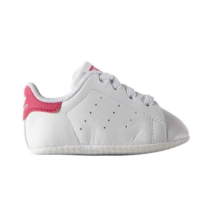 アディダス オリジナルス スタンスミス クリブ スニーカー ベビー 靴 ベイビー シューズ ファーストシューズ 赤ちゃん お祝い ギフト ホワイト ピンク 白 adidas Originals STAN SMITH CRIB S82618 トレフォイル