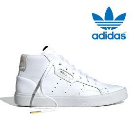 アディダス スニーカー オリジナルス スリーク ミッド レディース メンズ レザー 本革 シューズ 靴 白 ホワイト adidas originals ADIDAS SLEEK MID EE4726