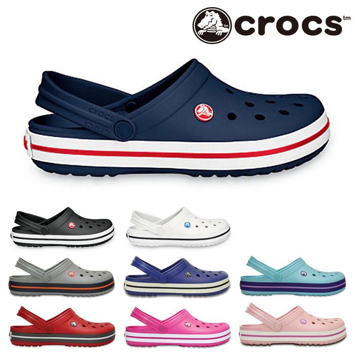 送料無料 クロックス クロックバンド サンダル レディース メンズ クロッグ 軽量 アウトドア 定番 黒 ブラック 白 ホワイト グレー ネイビー 青 ブルー ピンク レッド 赤 女性 男性 CROCS crocband 靴