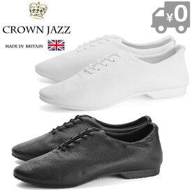 【あす楽】【即納】【送料無料】 クラウン ジャズ CROWN JAZZ レディース ウィメンズ メンズ レザーシューズ 白 ホワイト 黒 ブラック レースアップシューズ ローヒール パンプス 本革 靴 くつ クツ