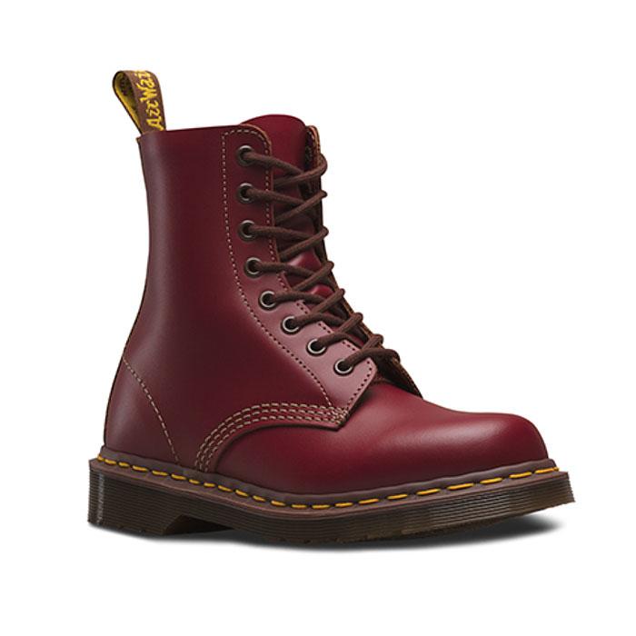 送料無料 ドクターマーチン Dr.Martens VINTAGE 1460 8EYE BOOT 8ホール ブーツ メンズ レディース オックスブラッド 赤 12308601 英国製 復刻 茶芯 靴 1208