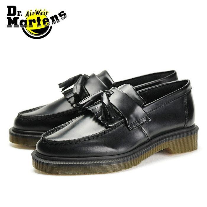 送料無料 ドクターマーチン エイドリアン タッセルローファー 黒 ブラック ブーツ レザー シューズ スリッポン メンズ レディース Dr.Martens ADRIAN TASSEL LOAFER BLACK 14573001 靴 1208