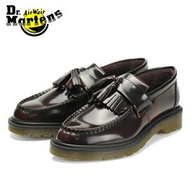 送料無料 ドクターマーチン Dr.Martens エイドリアン タッセルローファー レディース メンズ チェリーレッド 赤 レザー シューズ スリッポン 靴 くつ クツ 紐なし ADRIAN TASSEL LOAFER CHERRY RED 14573601