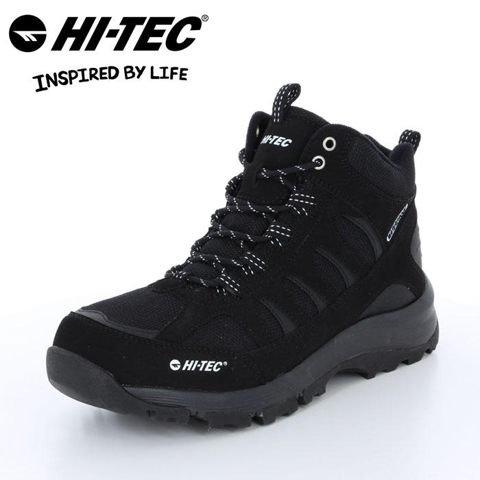 ハイテック ロックネス トレッキング ブーツ 靴 くつ クツ メンズ レディース アウトドア キャンプ ハイキング 山歩き 防水仕様 黒 ブラック レイン 雪 HI-TEC BTU12 LOCHNESS WP BLACK 53840936