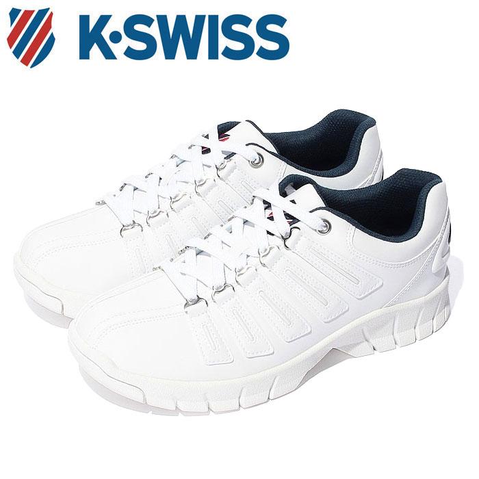 【送料無料】Kスイス ケースイス メンズ レディース ウィメンズ ホワイト トリコロール 白 赤 青 スニーカー レザー 厚底 プラットフォーム テニスシューズ ダッドシューズ ダッドスニーカー K-SWISS KSL 02 WHITE TRICO 36800025 靴 くつ クツ
